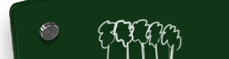 Whiteboard Glass Forest Green
